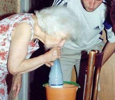 Gotta love grandma!. .. lmao granny hittin a pisser!