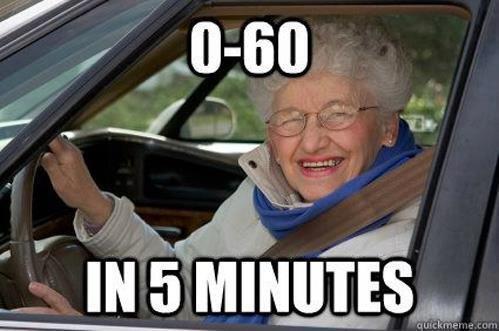 Granny Driving. .