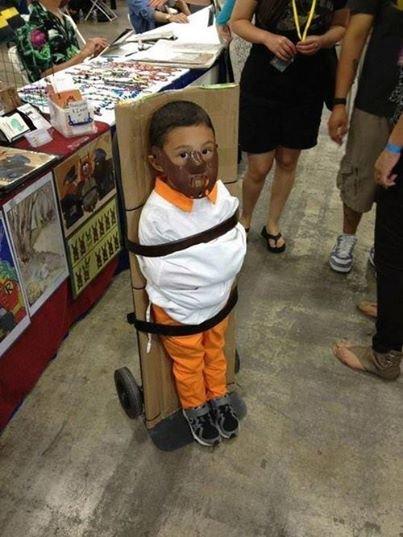 Great Halloween costume. He is soooooooooooooooooo cute ! i could just eat him up ;).. what if its not Halloween, what if the kids just a little . lol LMAO omg funny