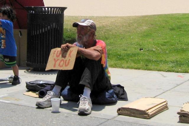 greatest homeless guy. lol.. I'd give him some change. hobo homeless lol fuck You