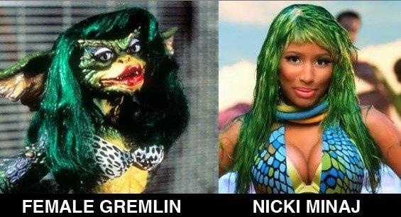 """Gremlin. . FEMALE ti' ' """"Nicki MINAJ ."""