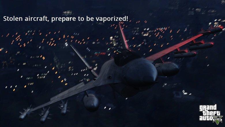 GTA V New Screenshots(edited). If ya guys ever played GTA SA you'll get it(i'm 100% certain you played gta san andreas:p). Stolen aircraft, prepare to be vapori