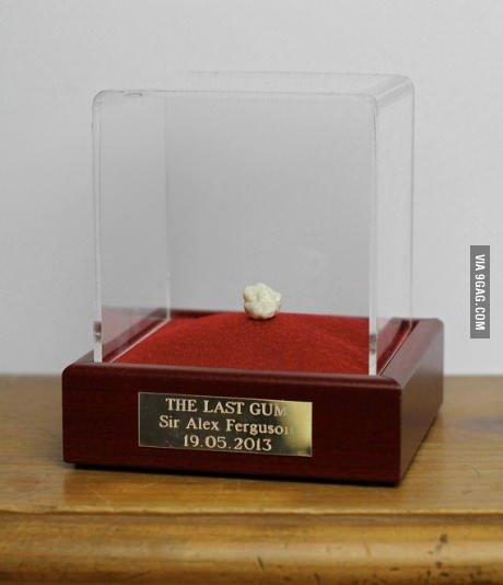 Gum. Probably worth alot. gum