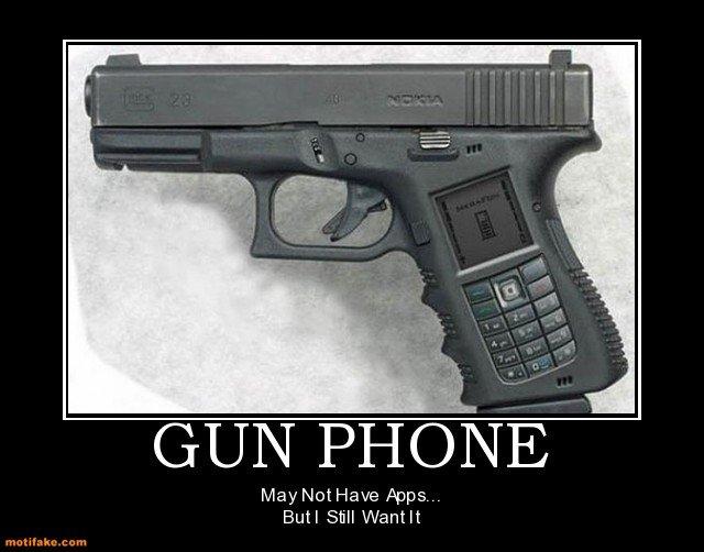 Gun Phone. . Lailii,, Burl Still Wantet. OF COURSE. Guns Phone