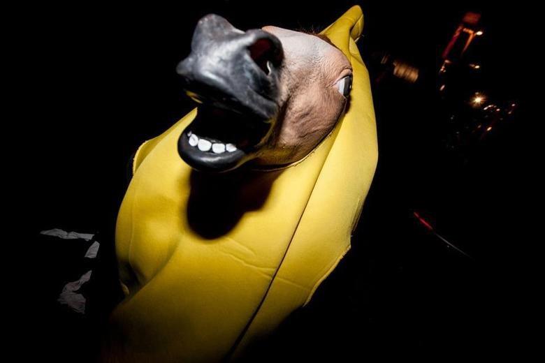 HUE. banana horse.