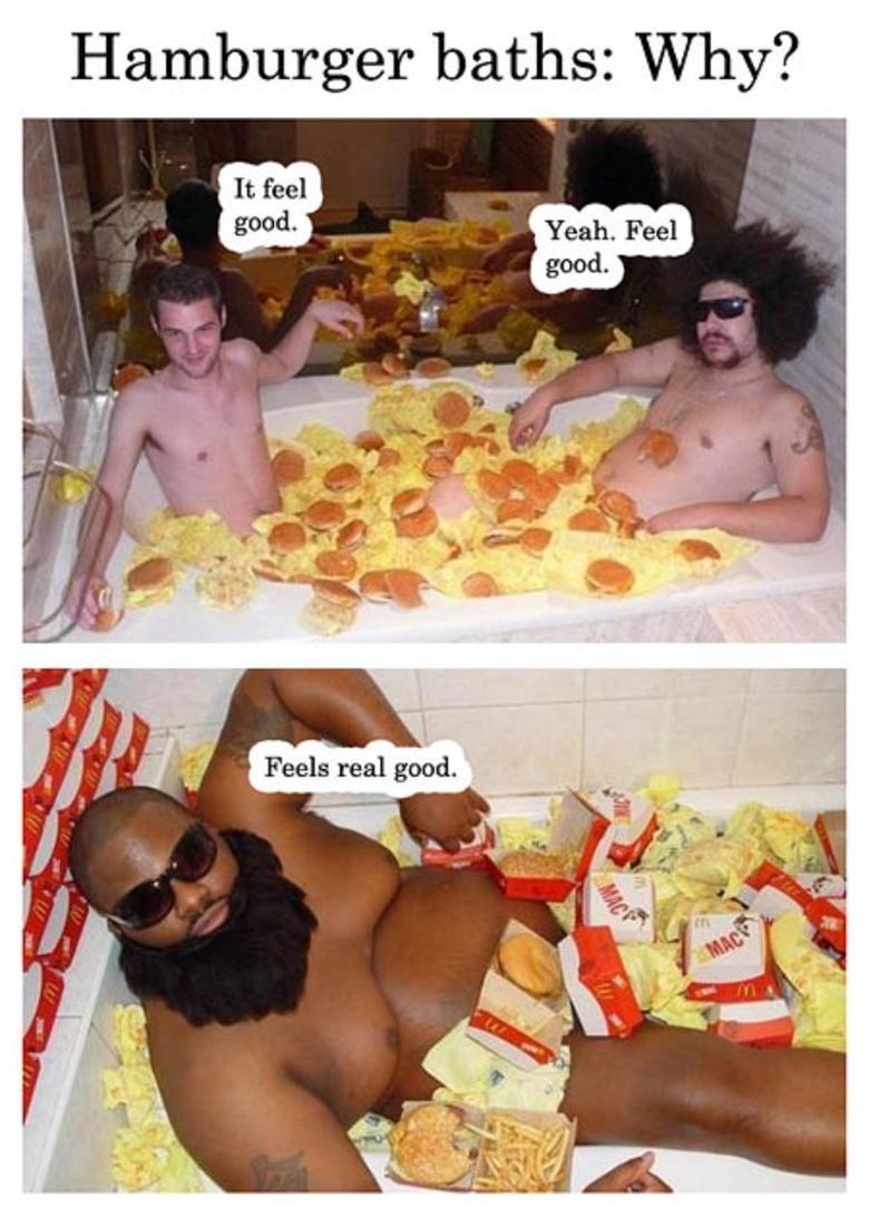 hamburger baths. .. why