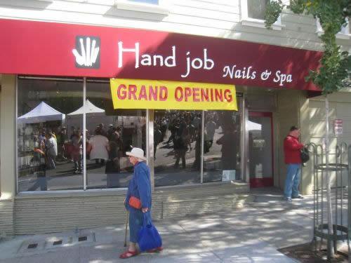 Hand Job Sign Fail. Fail name!.. i'lol'd