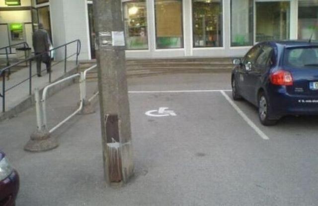 Handicap parking fail. that's harsh.