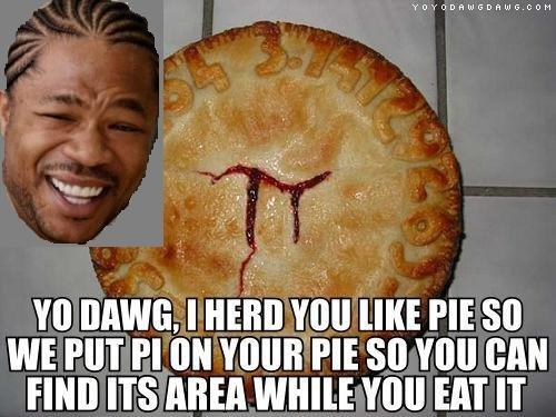 "Happy Pi Day. 3.14. yo , I HEIDIE VIII! PIE Slit WE PM PI "" YOUR PIE so VIII] [HIM mm ITS AREA WHILE ""III EAT IT"