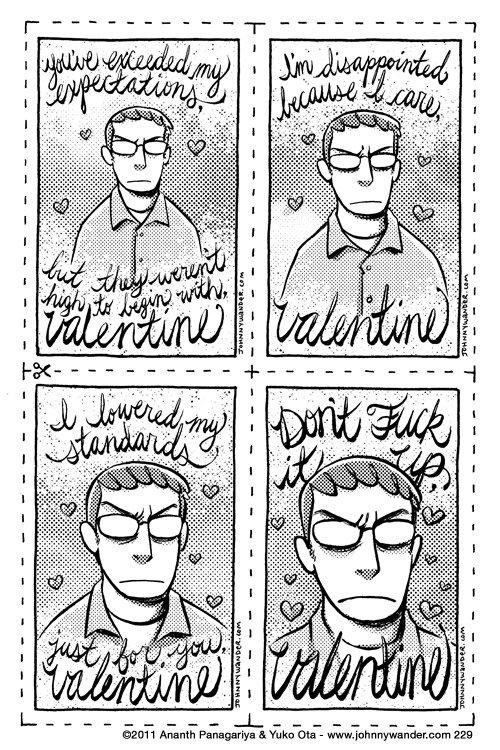 Happy Valentine's. www.johnnywander.com/comics/248.