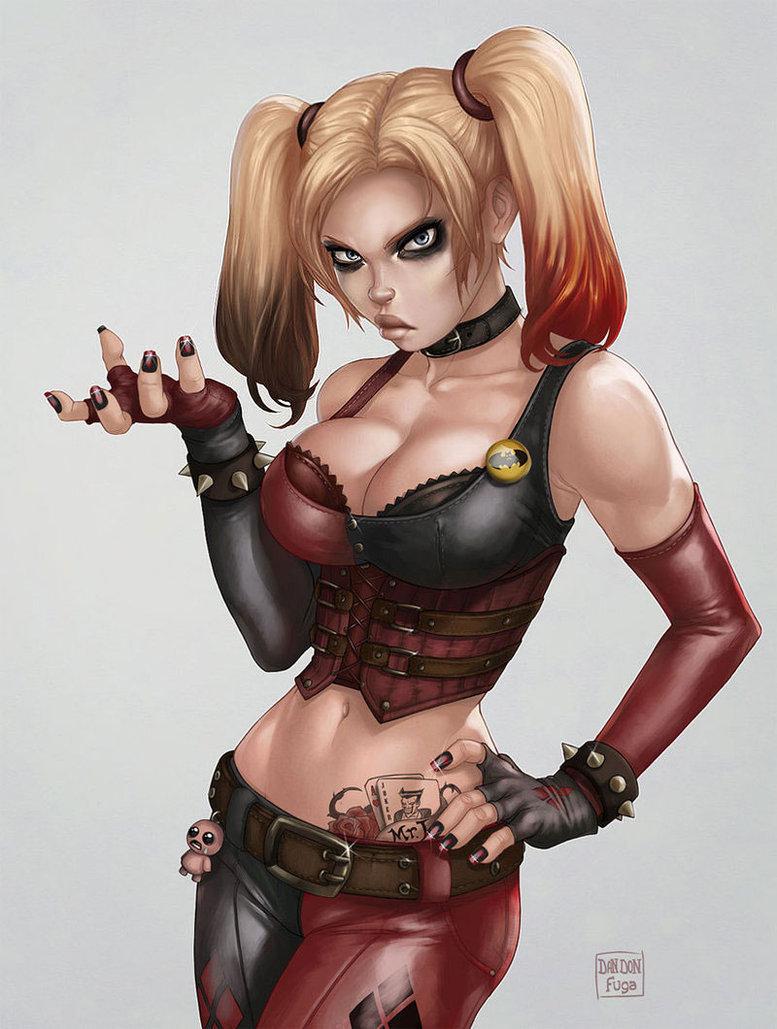 Harley Quinn. Harley Quinn. Damn fine artwork here..