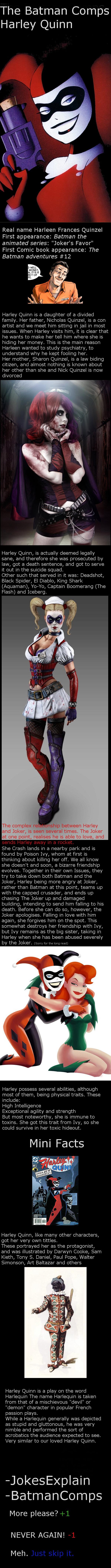Harley Quinn. Other OC: The Riddler: www.funnyjunk.com/channel/batman/Edward+E.+Nigma+comb/xwbBLkj/ The Joker: www.funnyjunk.com/channel/batman/The+Joker/qqcBLd batman OC Harley Quinn BatmanComps