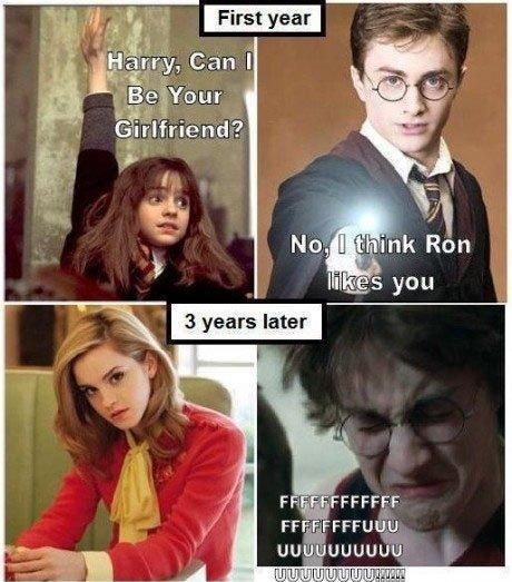 Harry Potter. bad choice dude..