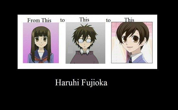 Haruhi Fujioka. One of the best animes ever.. honey-sempai is best... just sayin Haruhi Fujioka