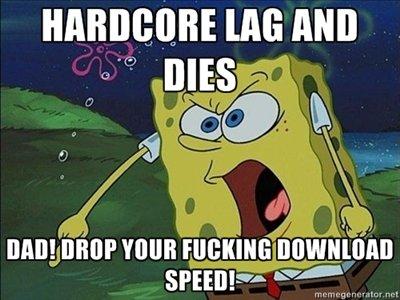 hate lag. . spongebob