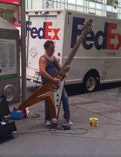 he is a huge guitarero. .