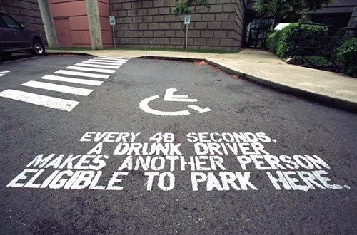 He must be sick of handicapping people. . miimii) j' ii' iii.' ifall, iia.. What a nice guy giving people those blue parking badges.
