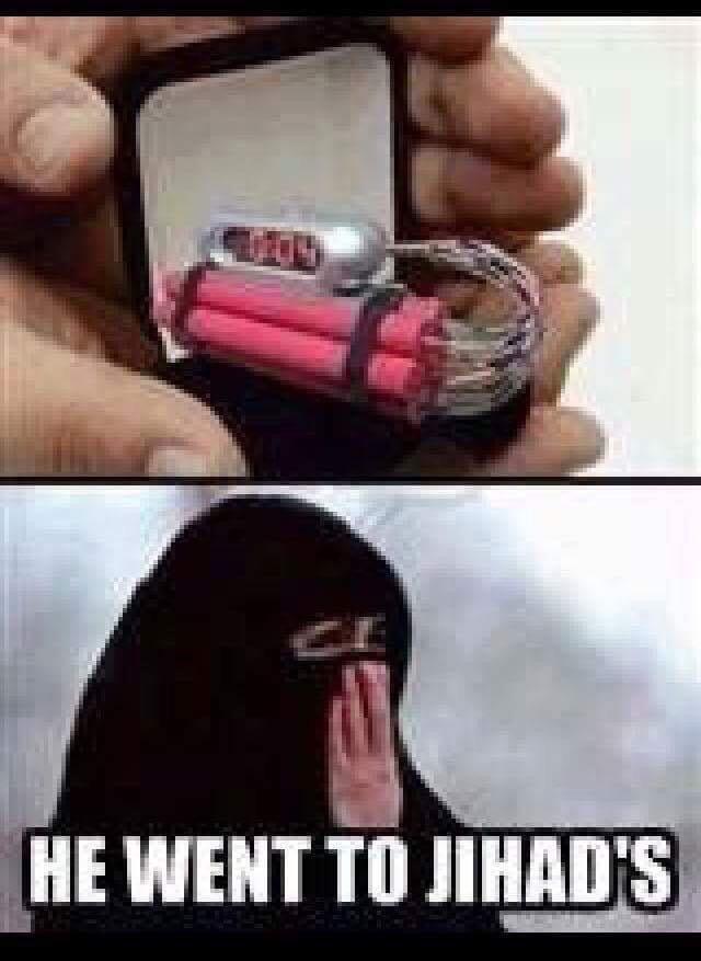 he went to jihads. true. lololl[ I' S§