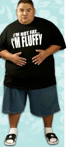 He's not fat. He's Fluffy, bitches... 1.average 2.big 3.fat 4.fluffy 5.DAMMMNNN! 6.OH HELL NO! gabriel iglasias fluffy