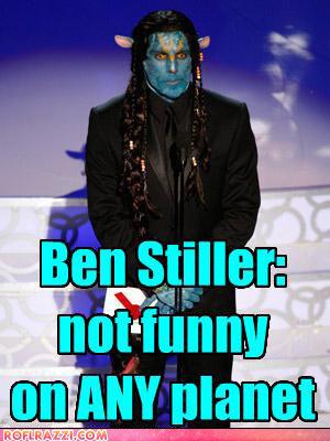He is not funny. even a little kid flipped the channel. ben stiller is n