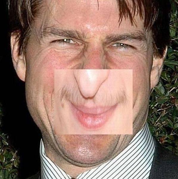 hehehehehe. he saw something dirty.. Input somthin' creative here Tom Tomcruise Cruise