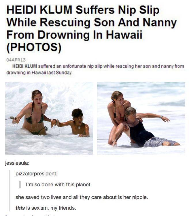 Heidi Klum. So tell me, FunnyJunk. Is it sexist?.. It's not sexist. It's just rude