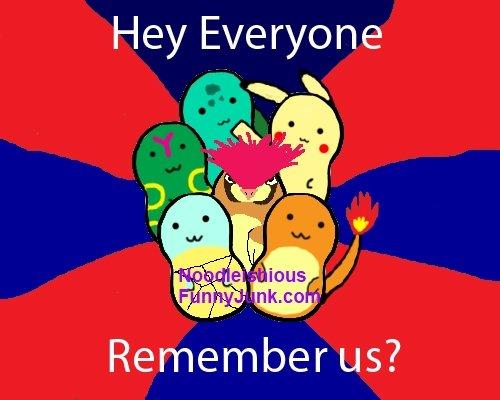 Hey guys! (read description). Bulbasaur: Bulba Bulbasaur! Pikachu: Pika! Pikachu! Caterpie: ... Pidgeotto: The dude I look like ! Squirtle: Squir Squirtle! Char