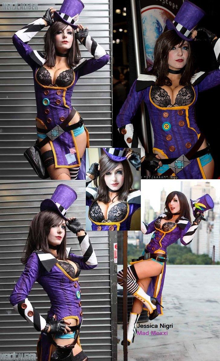 Hey Sugah,. Jessica Nigri as Madd Moxxxi... mmmmmmmmm mmmmmmmm Made the collage, images from Nerd Caliber... A bigger-tittied challenger appears