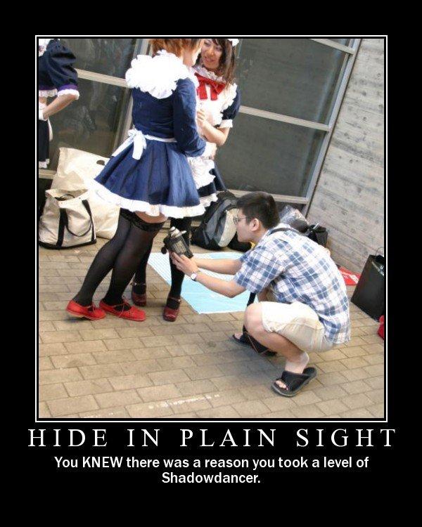 hide in plain sight. .