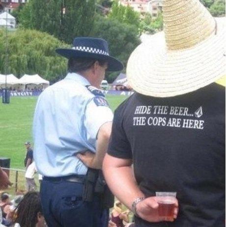 Hide the beer. . HERE. How I hide beer.