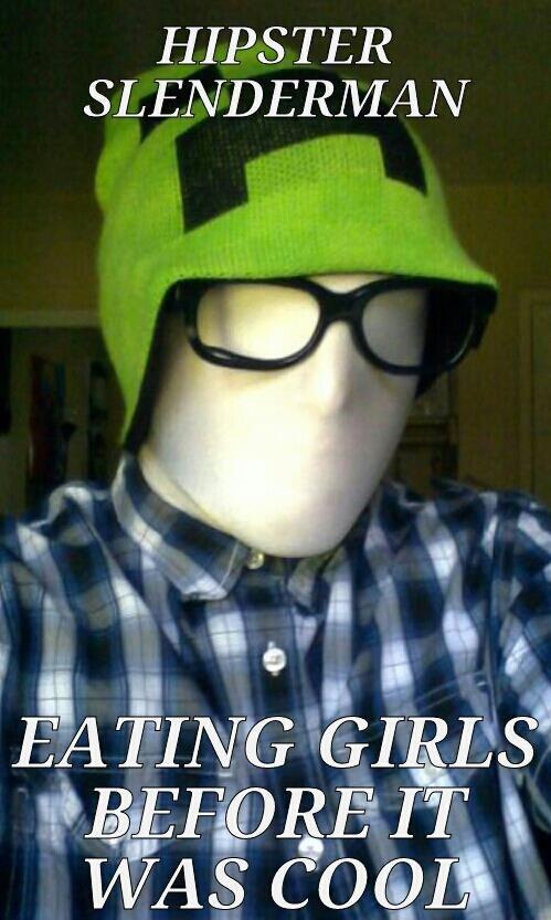 Hipster Slenderman. i was bored, so i made this. hipster Slenderman