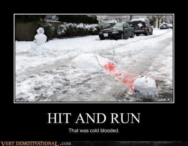 HIT AND RUN. . wrat was said. Calvin and Hobbes anybody?