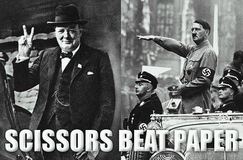 Hitler paper fails. .. [Insert fist of Communism]