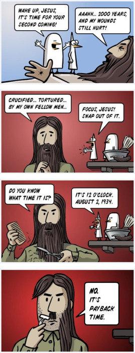 Hitler Truth. . If? THE FEW HUN NH EEK' HRH TIE If H? NIH ta' ilke. Didn't know Jesus was Austrian...