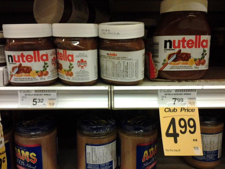 Hmm cant decide nutella. . munlu Mann we 'tlt Club Price