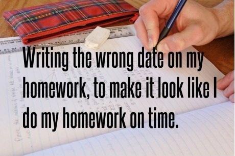 Homework. Tags: cars, crashes. homework. to make it look file 'Ill do my homework on time.. >Doing homework