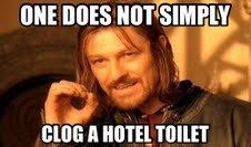 Hotel Toilet. hoop a doop doop deep. BIBS , Mlm.. Well.... I sorta have?....