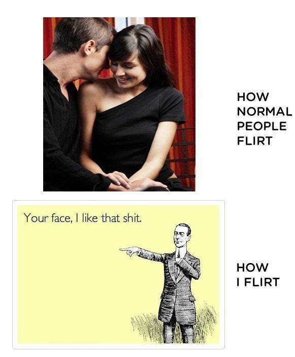 how i flirt. . HOW NORMAL PEOPLE FLIRT