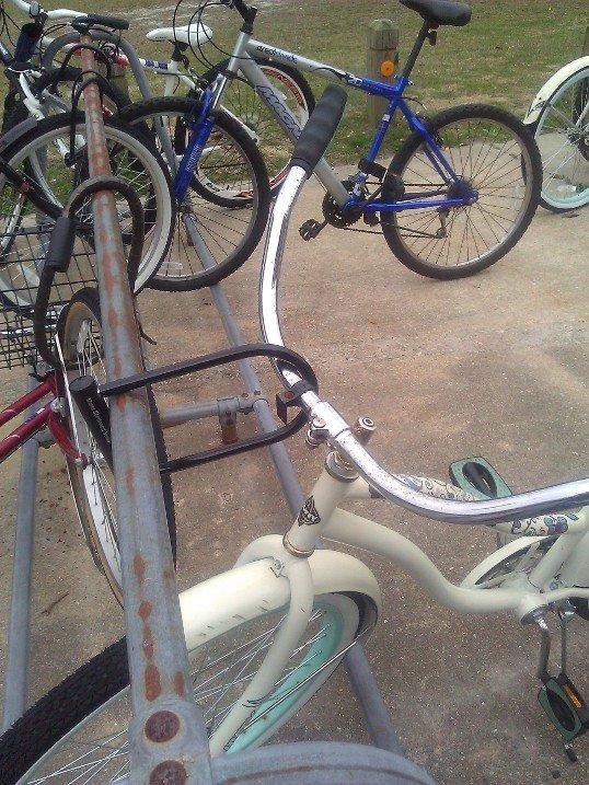 how i lock my bike up. .