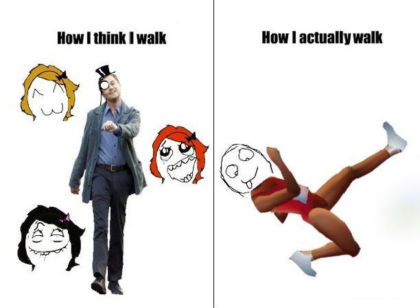 How i think i walk. .. good idea, bad meme use Expectations VS  walk how i think i qwop