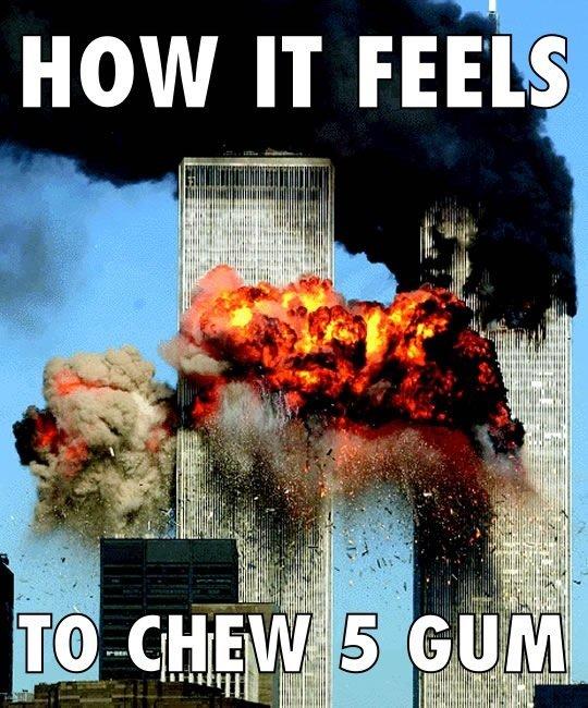 "How It Feels To Chew 5 Gum. . HOW IT Ffii"" i' lillie III; titl,"