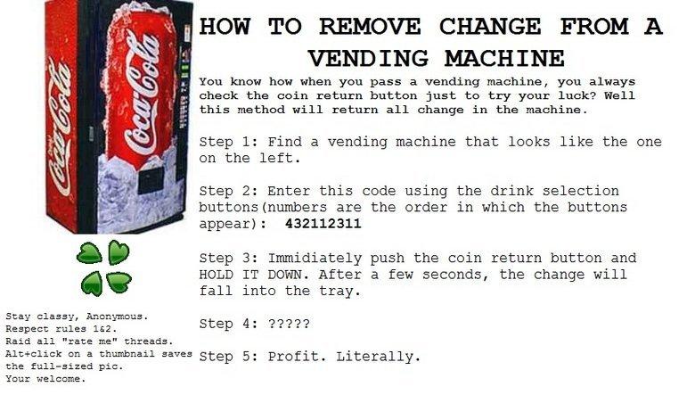 vending machine codes fallout