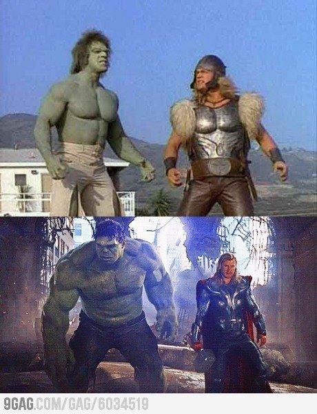 Hulk and thor. .