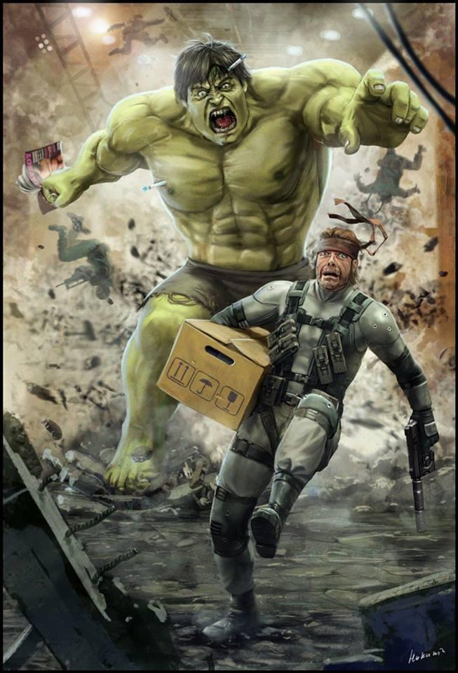 Hulk chasing a snake. Poor little snake....