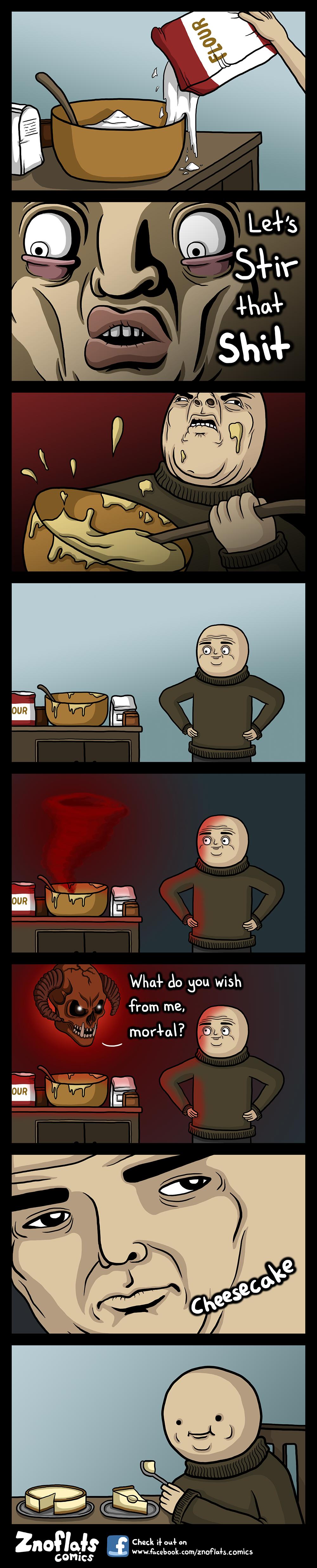 Hur man lagar en makalös ostkaka!. For all of my comics: www.facebook.com/Znoflats.Comics?ref=hl.. For those uses of cheesecake