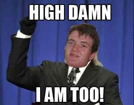 I am do damn high!!!. :{}. I AM Toil) stoner Stanley Drugs weed to damn high Pot funny meme hilarious ASS Porn tits Stoner