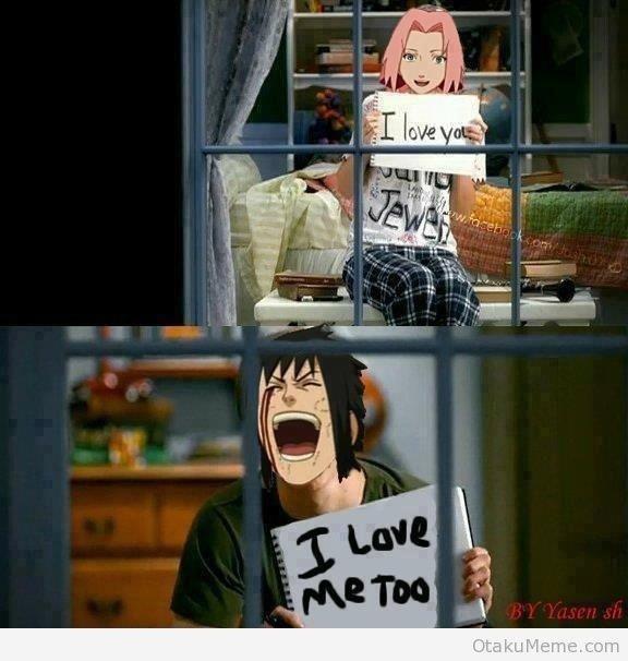 I hate Sasuke. but funny.