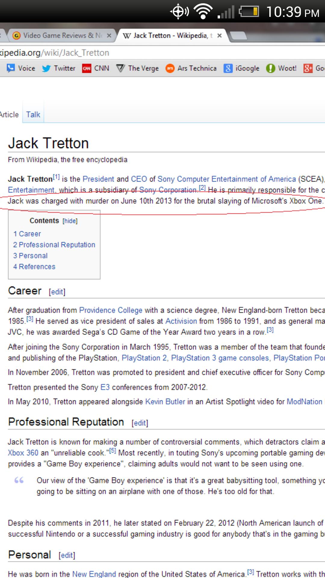 i loled. no. W Jack Tritton _ Wikipedia, . acedia. org/ wiki/ Voice y Twitter CNN V The Verge G Ars Technica igoogle o Wont! Go Vtifqe Talk Jack Tritton From Wi