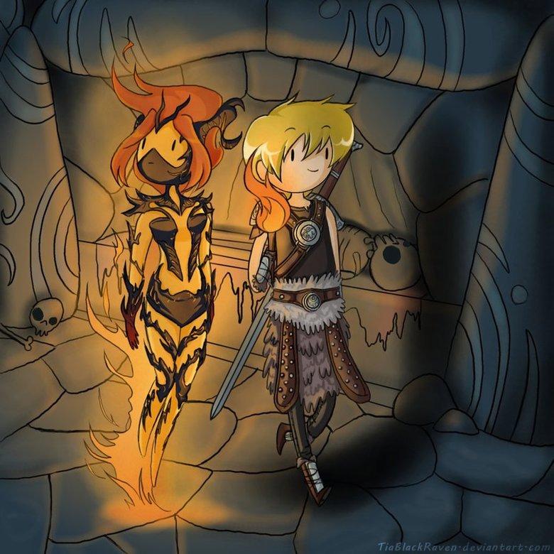I love crossovers. .. In their tongue he is... 'Dovahfinn' - Adventureborn!