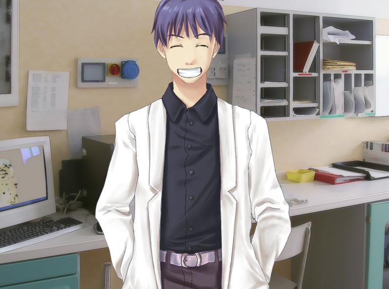 I love this guy (description). I wish there was a Katawa Shoujo for girls... Katawa Otoko. With an ending for the nurse. Totally my favorite character... Katawa Otoko, you can get with The Nurse, Kenji, Mutou, Hisao or Misha katawa shoujo nurse